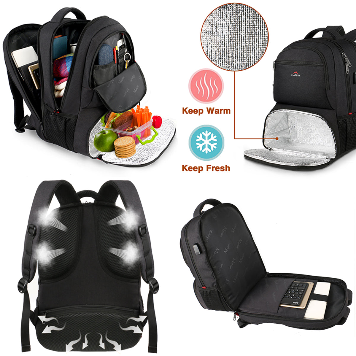 Matein Cooler Backpack Lunchbox