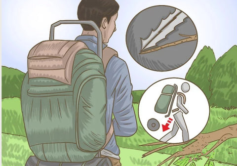 How to pack a tent in a backpack?