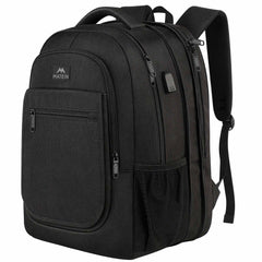 Matein Expandable College Bookbag Travel  Laptop Backpack