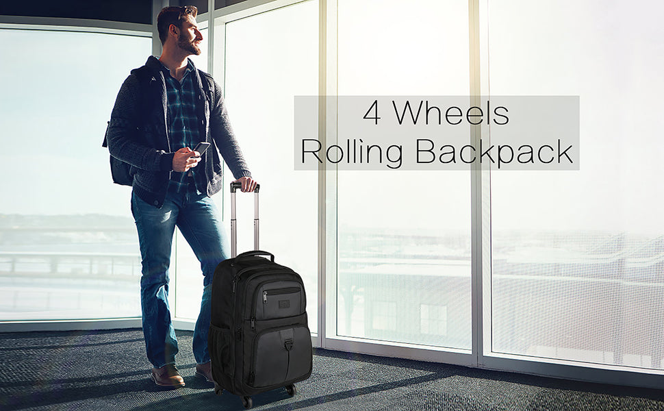 matein wheeled rolling backpack