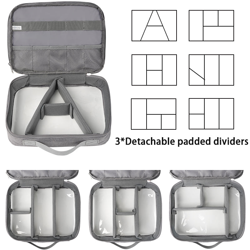 Matein Clear Electronics Travel Organizer, Waterproof Electronic Accessories Case