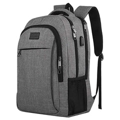 "Matein Mlassic Travel Laptop Backpack w/ USB Charging Port Fits 15.6"" Laptop"