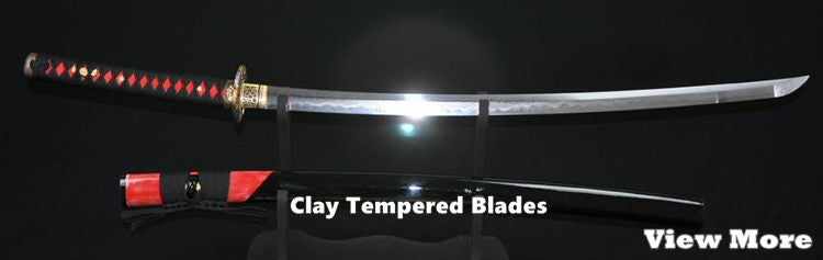 Clay Tempered Blade Samurai Swords