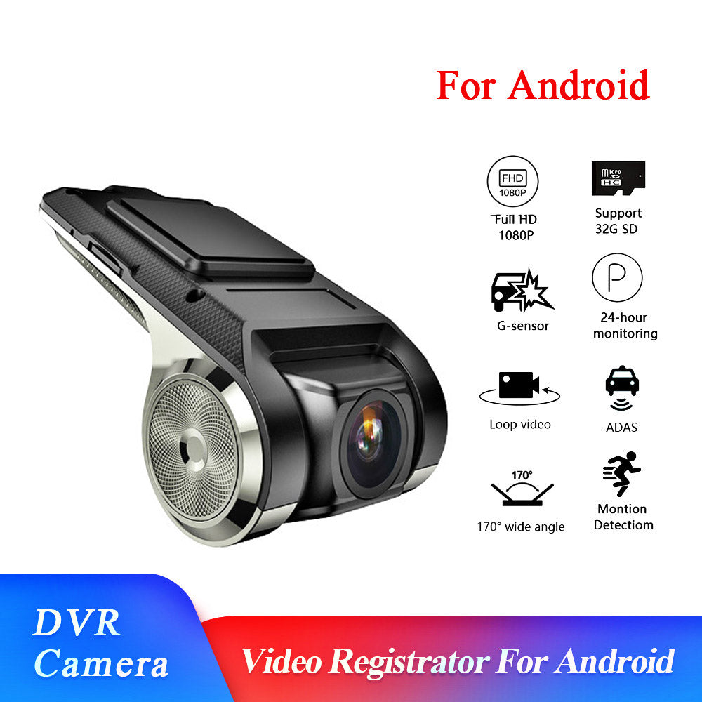 Upgrade 1080P Full HD Dash Cam Car Video Driving Recorder With Center Console LCD Car DVR Video Recorder 170° Wide Angle