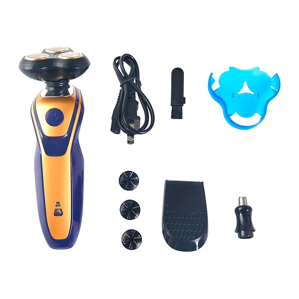 3-In-1 Rotary Floating Shaver Rechargeable Electric Washing Shaver