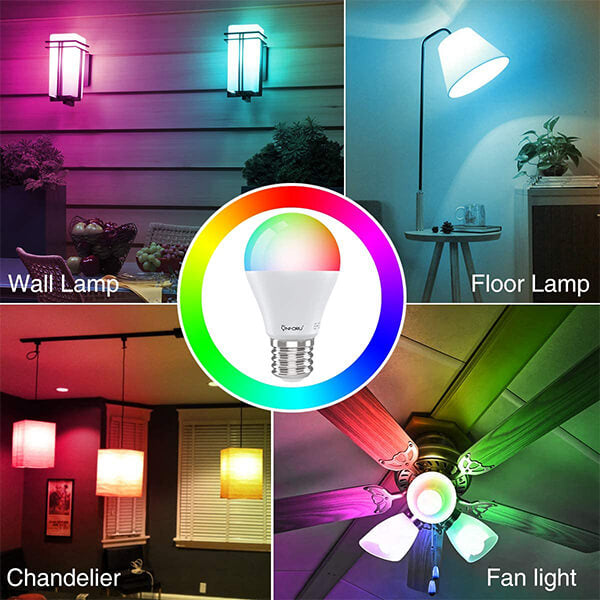 Smart Light Bulb 6 Pack Works with Alexa, LED WiFi Light Bulbs E26, Color Changing Dimmable RGBW Bulb with Music Synchronized, App Remote Control