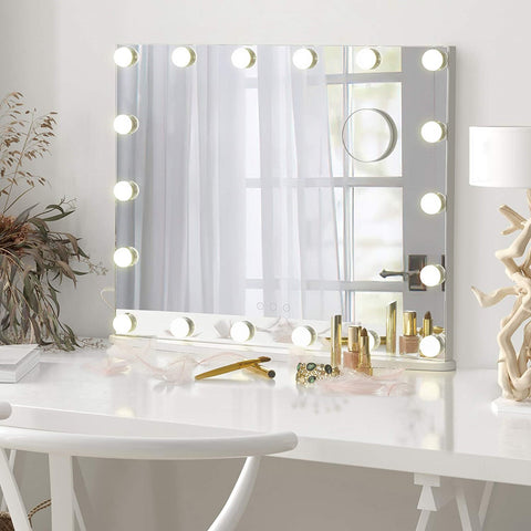 Luxfurni Starry 7XL Large Frameless Makeup Mirror with LED lights