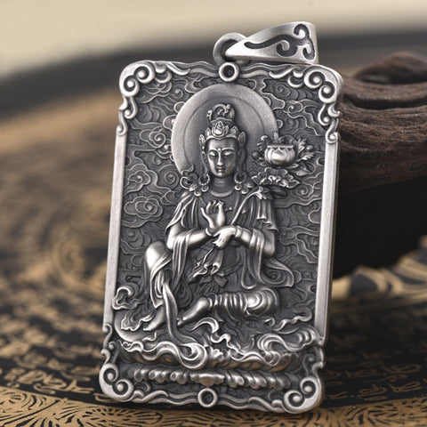 Buddha Vitarka Mudra of Teaching Pendant - Mantrapiece.com