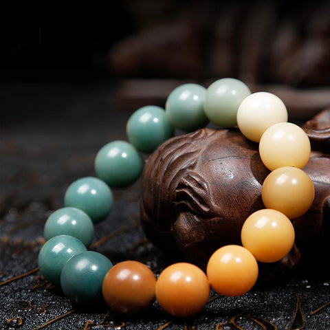 Four Seasons Assorted Bodhi Root Wrist Mala - Mantrapiece.com