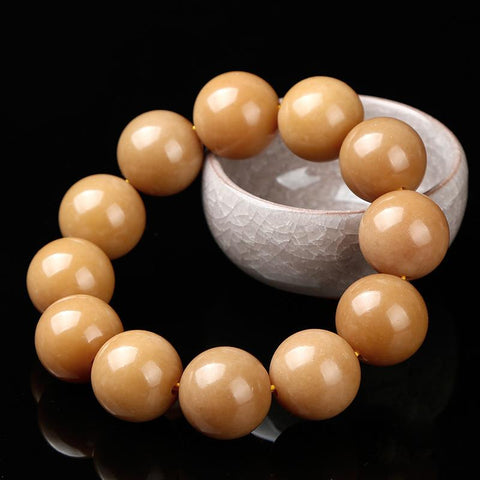 King Kong Aged Bodhi Rood Wrist Mala for Men - Mantrapiece.com