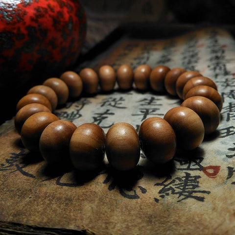 Old Mountain Mysore Sandalwood Wrist Mala | Mantrapiece.com