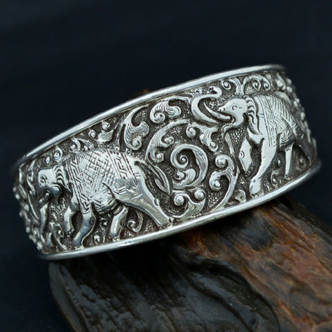 Elephant Bangle Nepali Jewelry - Mantrapiece.com