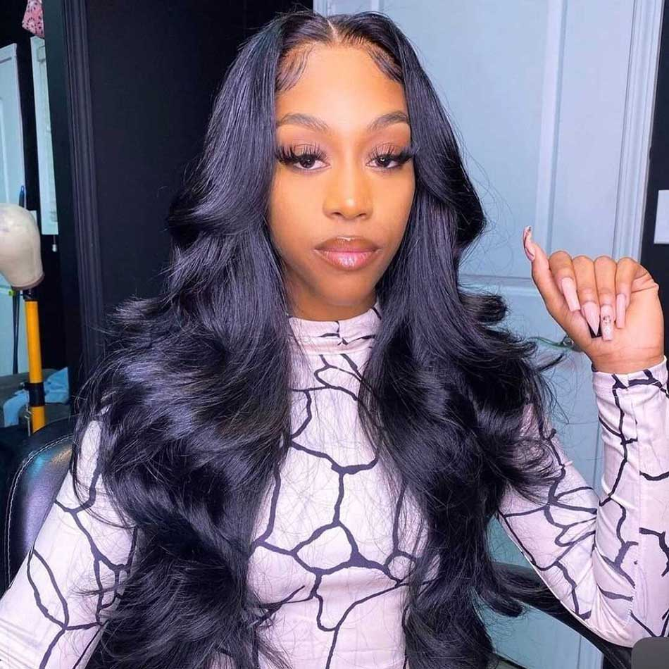Lace Closure Human Hair Wigs  Raw Indian