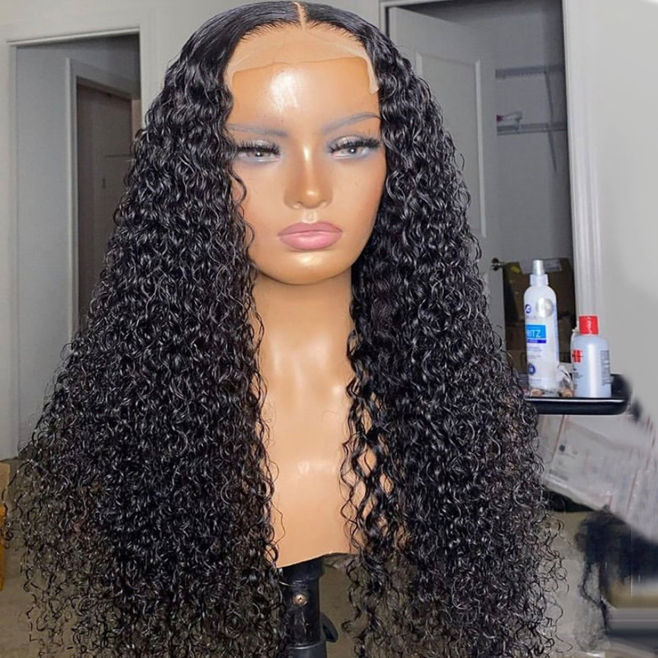 4x4 5x5 Lace Closure Human Hair Wigs Deep Curly
