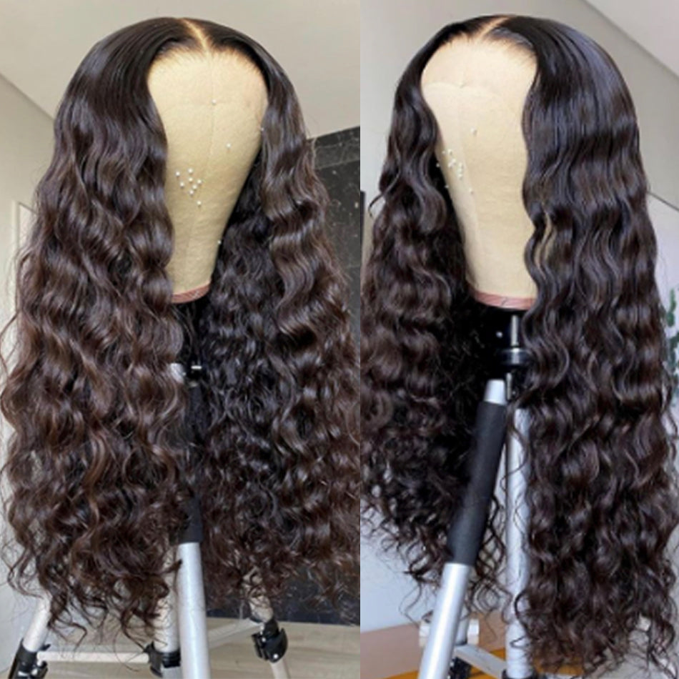 4x4 5x5 Lace Closure Human Hair Wigs Loose deep wave Tuneful Pre Plucked 150% 180% Brazilian Remy Human Hair Wig