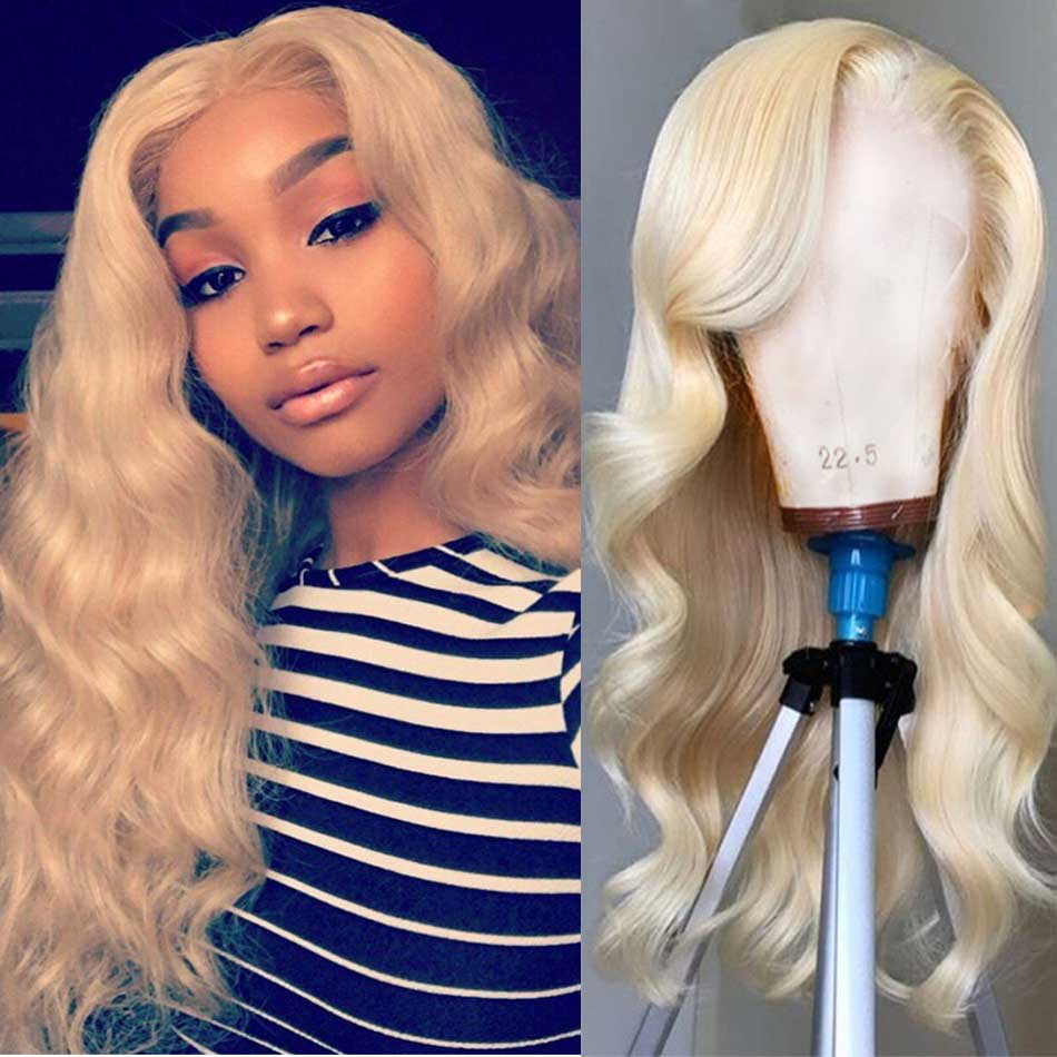 Body Wave HD Lace Frontal 613 Blonde Remy Human Hair Wigs