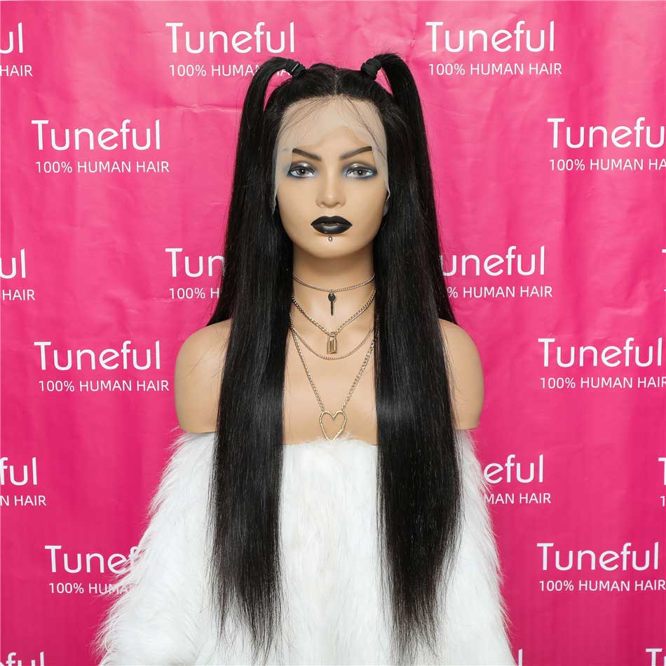 360 Lace Frontal Human Hair Wigs Straight
