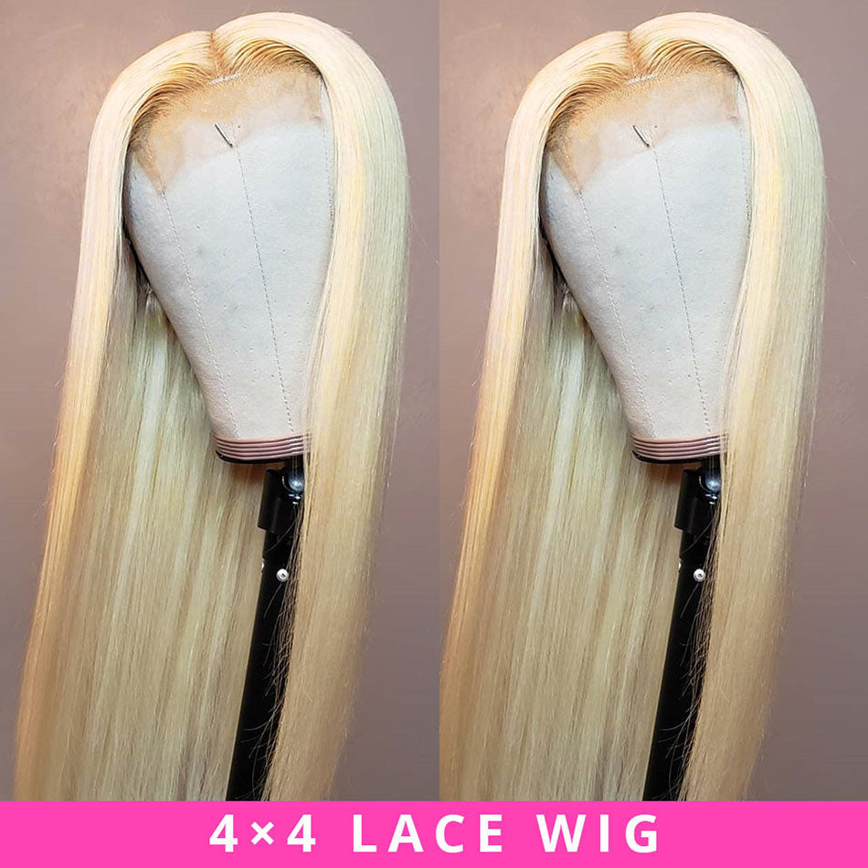 4X4 Brazilian Remy Human Hair Wig HD Lace Closure Wigs For Women