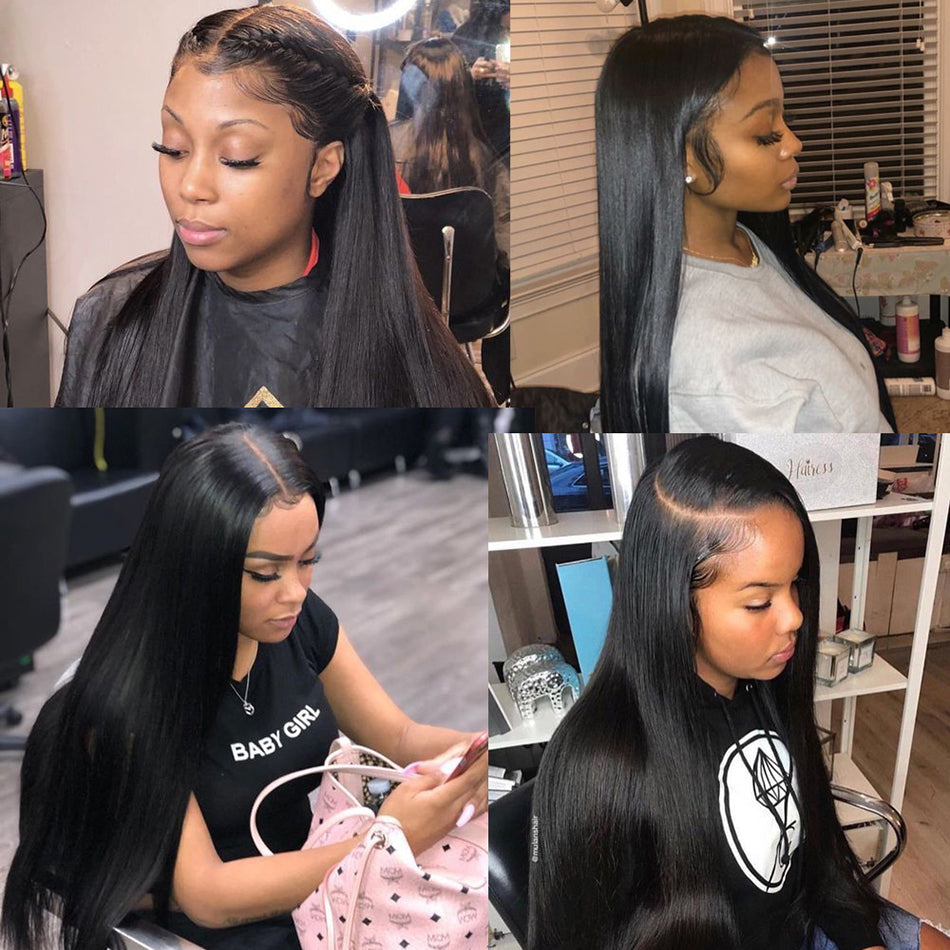 13x6 Lace Front Human Hair Wigs Straight Pre Plucked With Baby Hair Tuneful 150%Density Brazilian Remy Human Hair Wig Lace Frontal Wigs For Women
