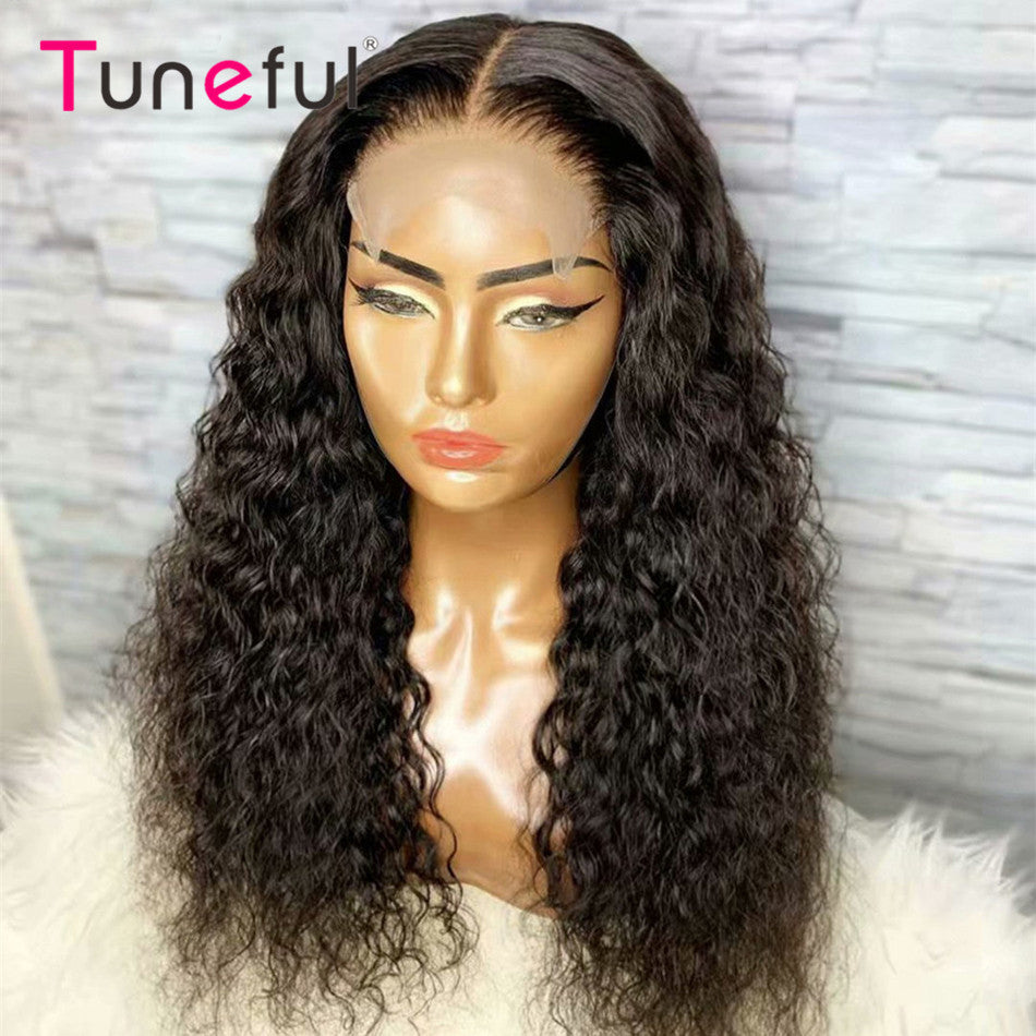 4x4 5x5 Lace Closure Human Hair Wigs Water Wave Remy Human Hair Wig Lace Closure Wigs For Women
