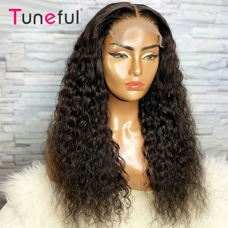 4x4 5x5 Lace Closure Human Hair Wigs Water Wave Tuneful Pre Plucked Remy Human Hair Wig Lace Closure Wigs For Women