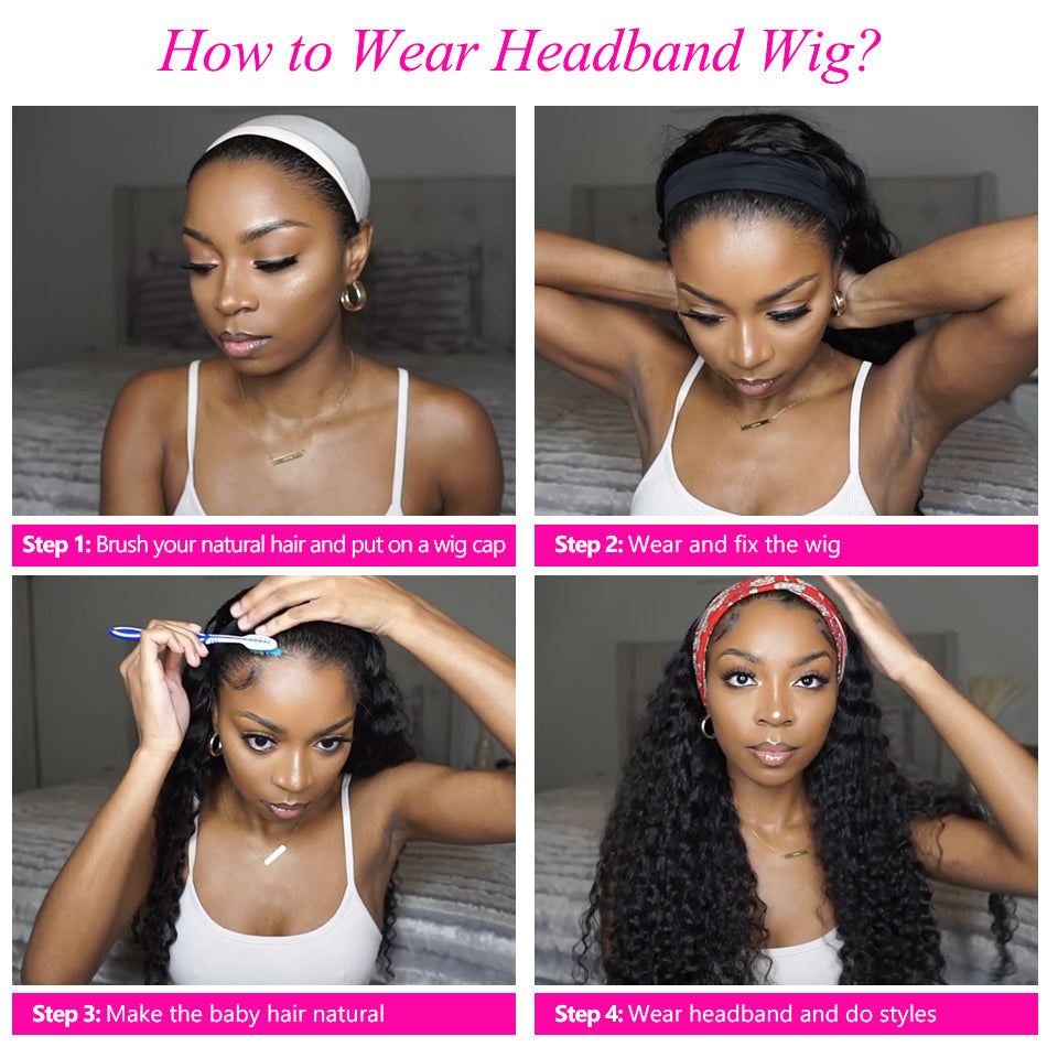 Tuneful Headband Wigs Human Hair Wigs Human Hair Wigs For Women