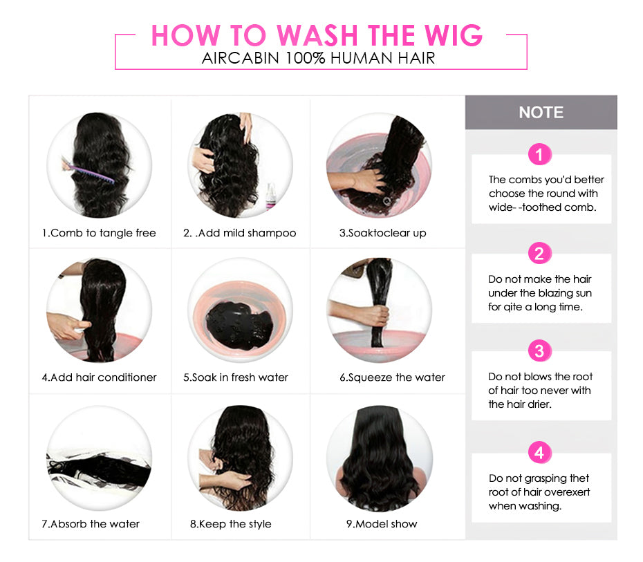 How To Wash/Care Your Wig?