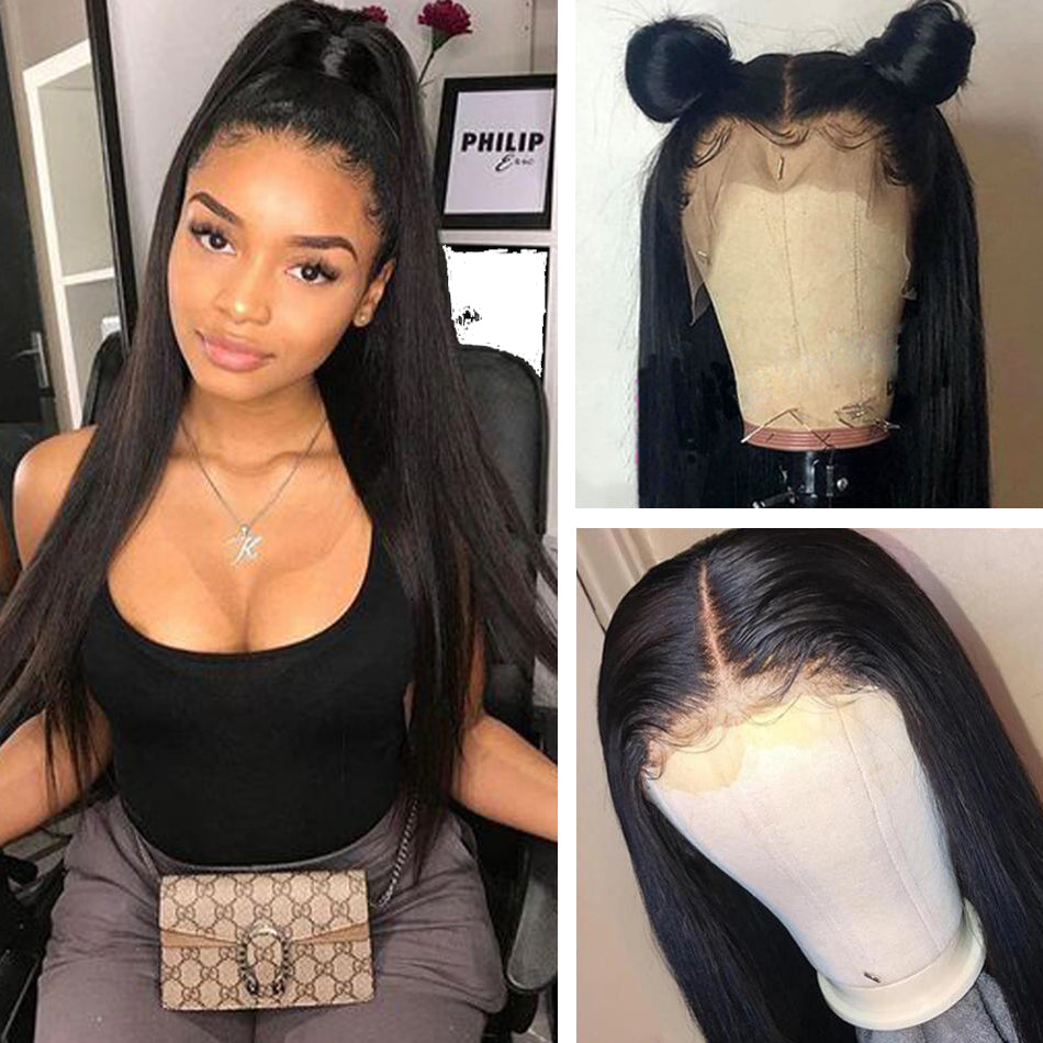 360 Lace Frontal Human Hair Wigs Straight Tuneful 150% Brazilian Remy Human Hair Wigs For Women