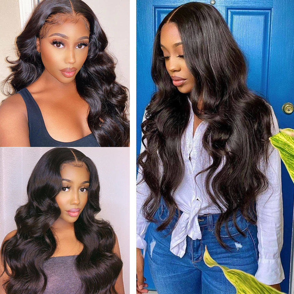 4x4 5x5 Lace Closure Human Hair Wigs Body Wave Tuneful Pre Plucked