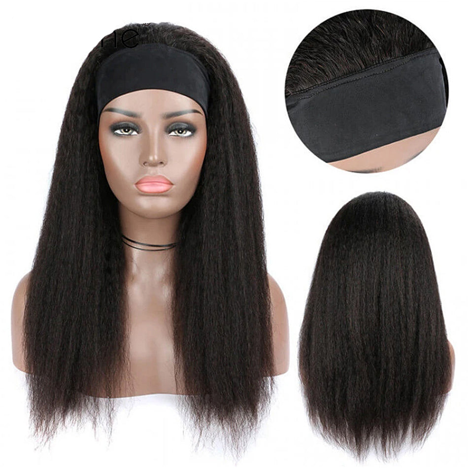 Tuneful Kinky straight Brazilian Human Hair Wigs For Women