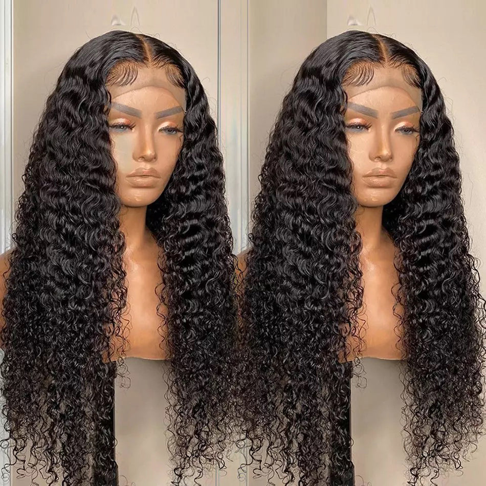 4x4 5x5 Lace Closure Human Hair Wigs Deep Curly Tuneful Pre Plucked 150% 180% For Women - Tuneful Hair