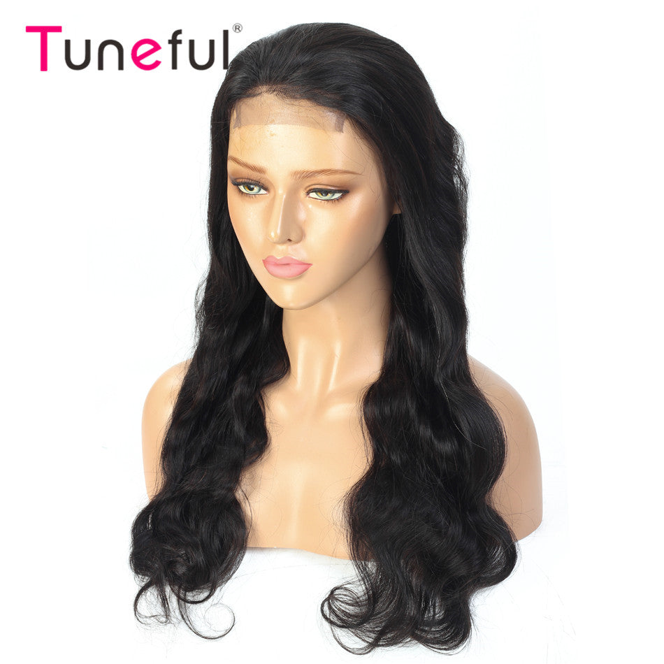Tuneful 13x4 Lace Front Human Hair Wigs Straight Pre Plucked