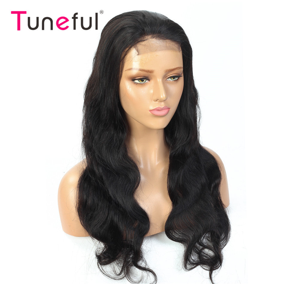 4x4 5x5 Lace Closure Human Hair Wigs Body Wave Tuneful Pre Plucked 150% 180% Brazilian