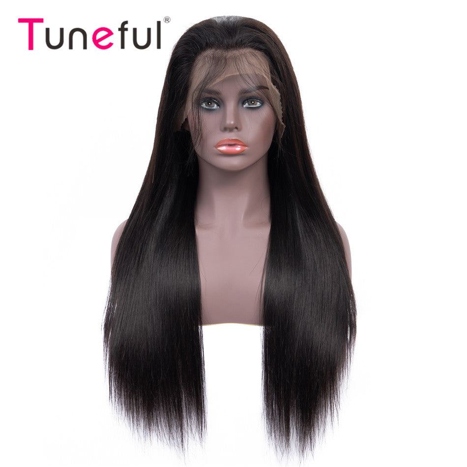 360 Lace Frontal Human Hair Wigs Straight Pre Plucked With Baby Hair