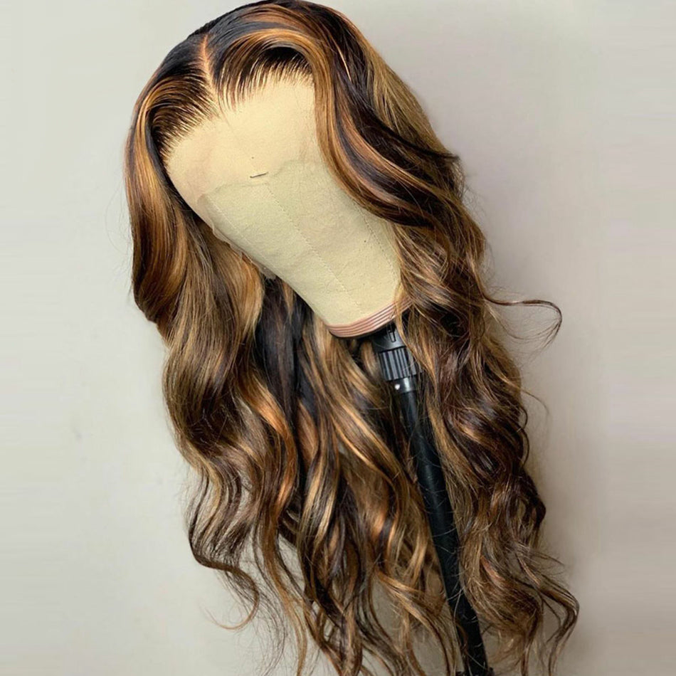 Body Wave 180% Brazilian Remy Human Hair Wig Lace Part Wigs