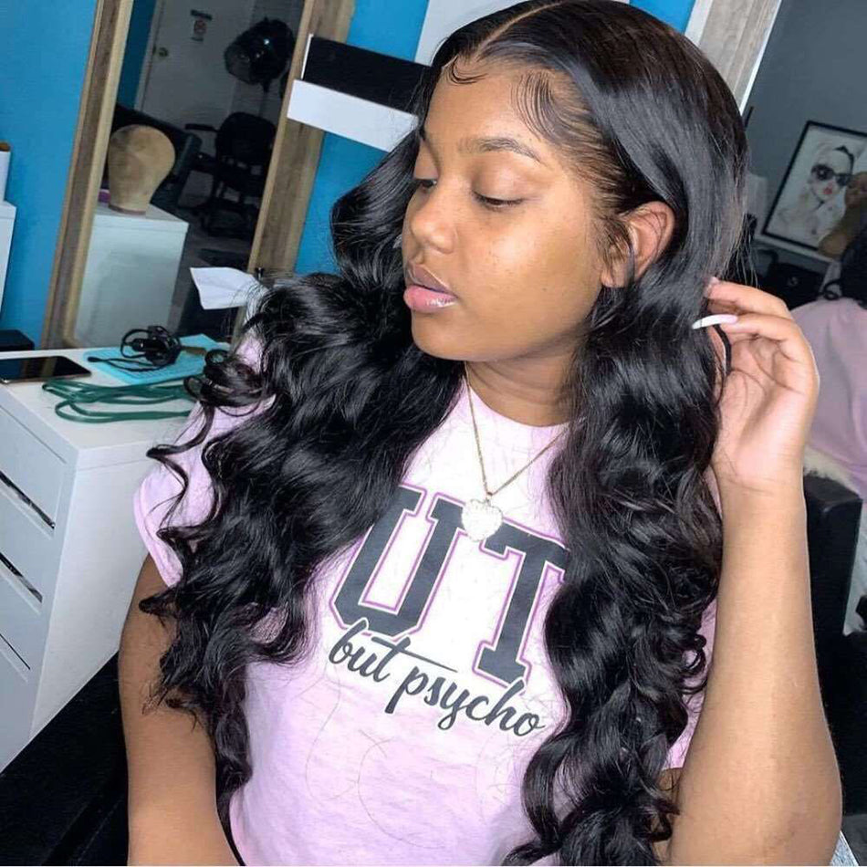 13x4 HD Lace Front Human Hair Wigs Body Wave Pre Plucked  150% 180% Density Raw Indian Human Hair Wig Lace Frontal Wigs For Women
