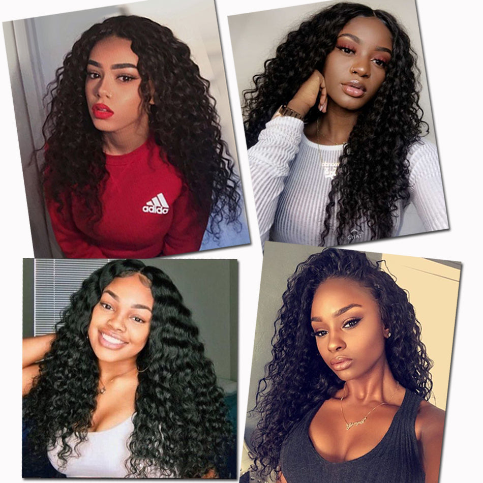 Deep Wave 4x4 5x5 Lace Closure Wigs