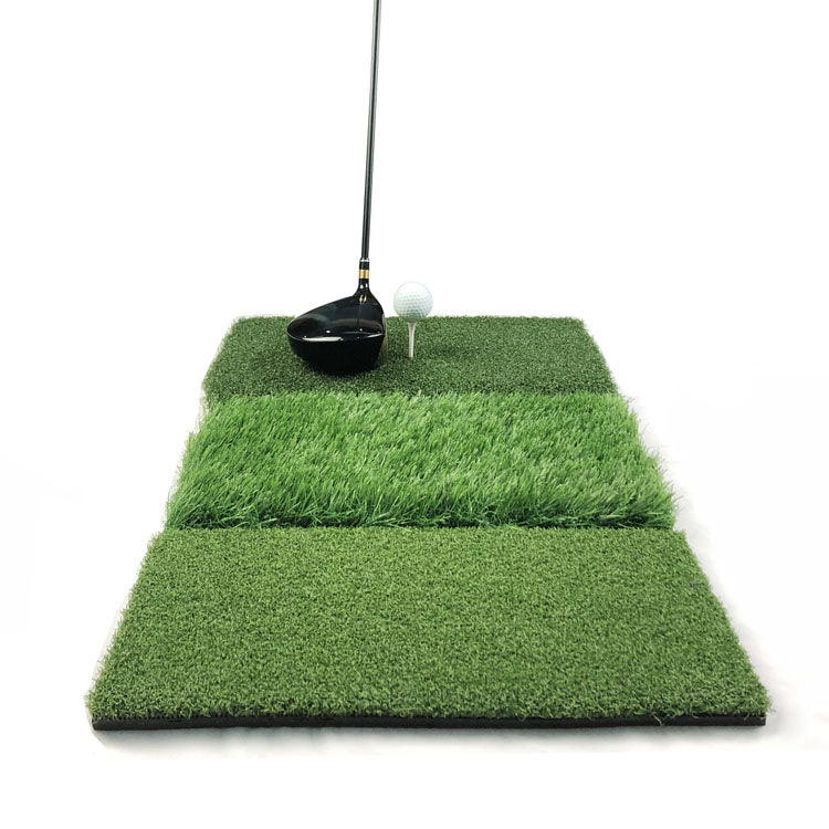 Mazel 3-in-1 Golf Hitting Mat Nylon Grass Rubber Pad Backyard Out door Golf Practice Mat-5