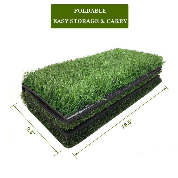Mazel 3-in-1 Golf Hitting Mat Nylon Grass Rubber Pad Backyard Out door Golf Practice Mat-4