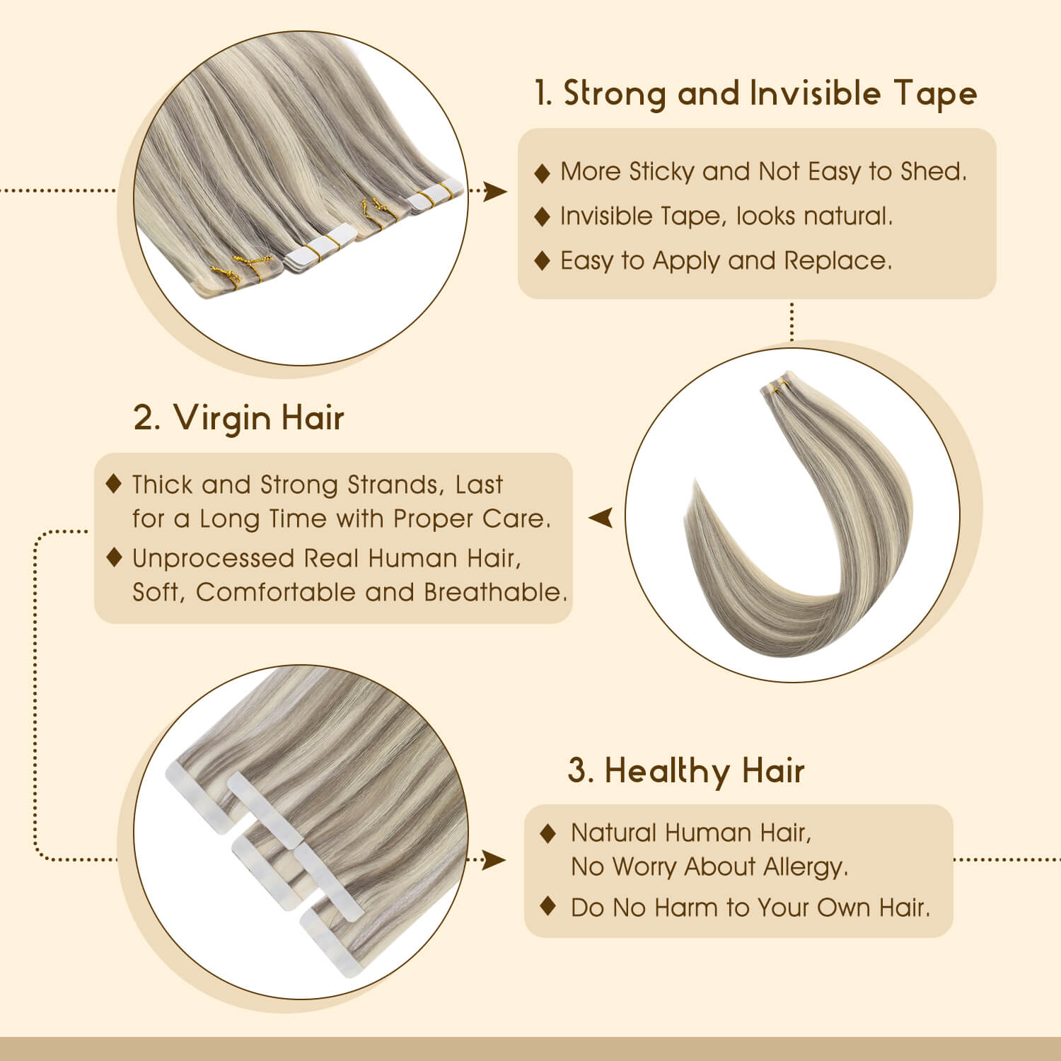 Injection Virgin Hair Tape in