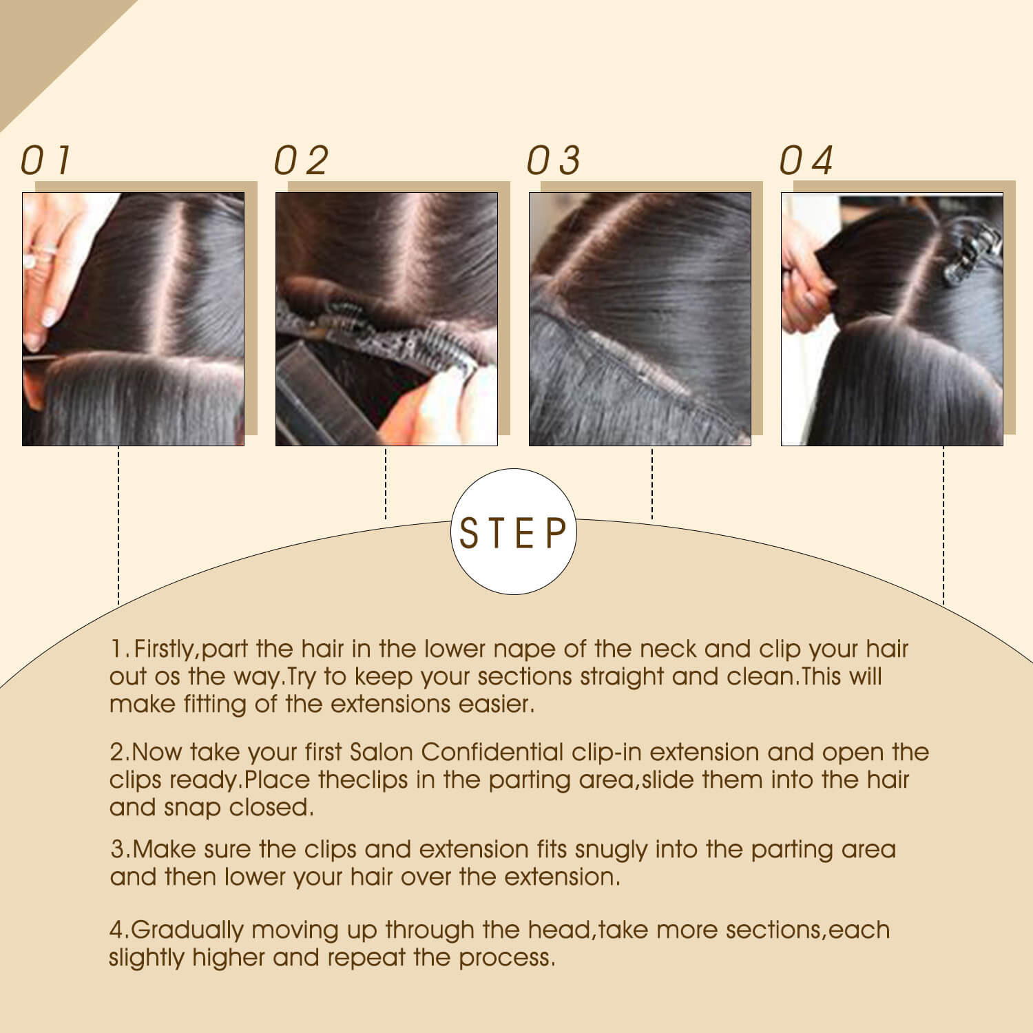 How to Apply Virgin Clip ins
