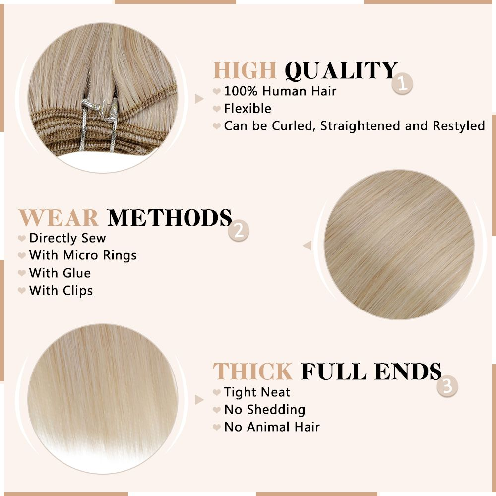 Weft Human Hair Extensions