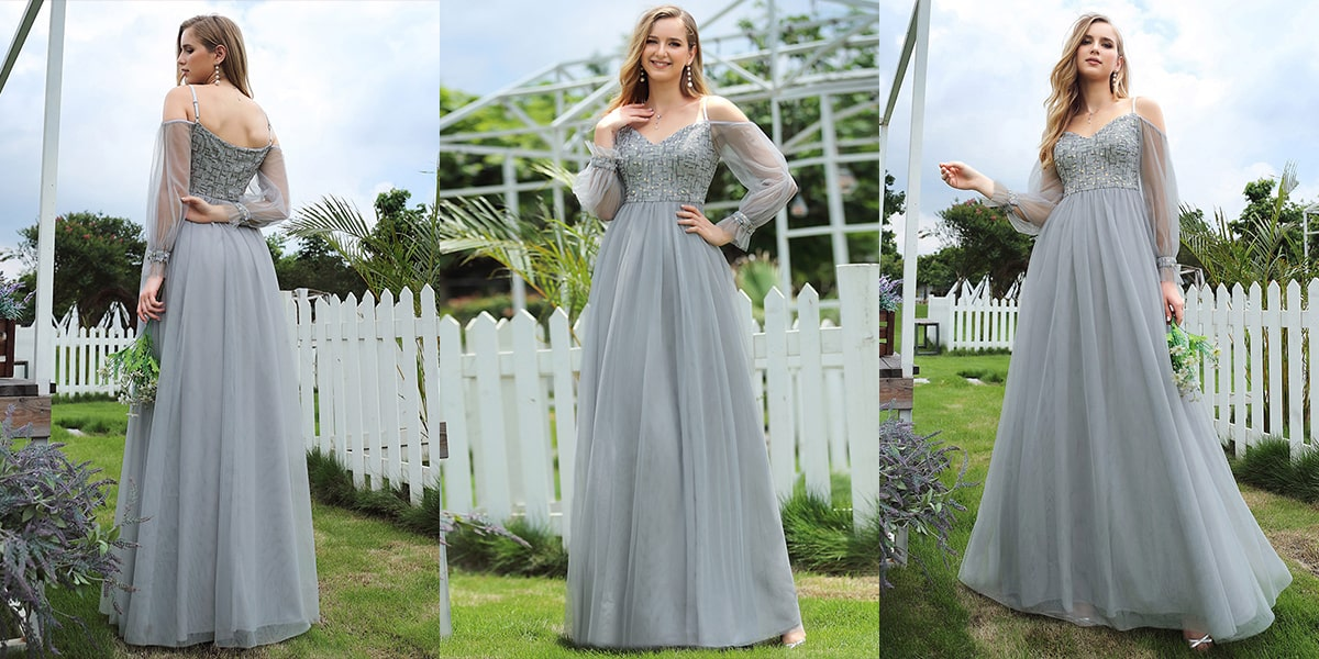 Tulle A-line Evening Dresses