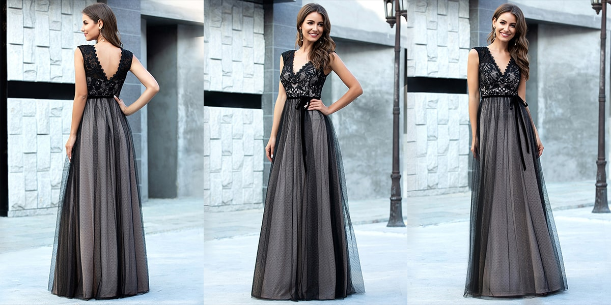 Tulle Evening Gowns with Lace