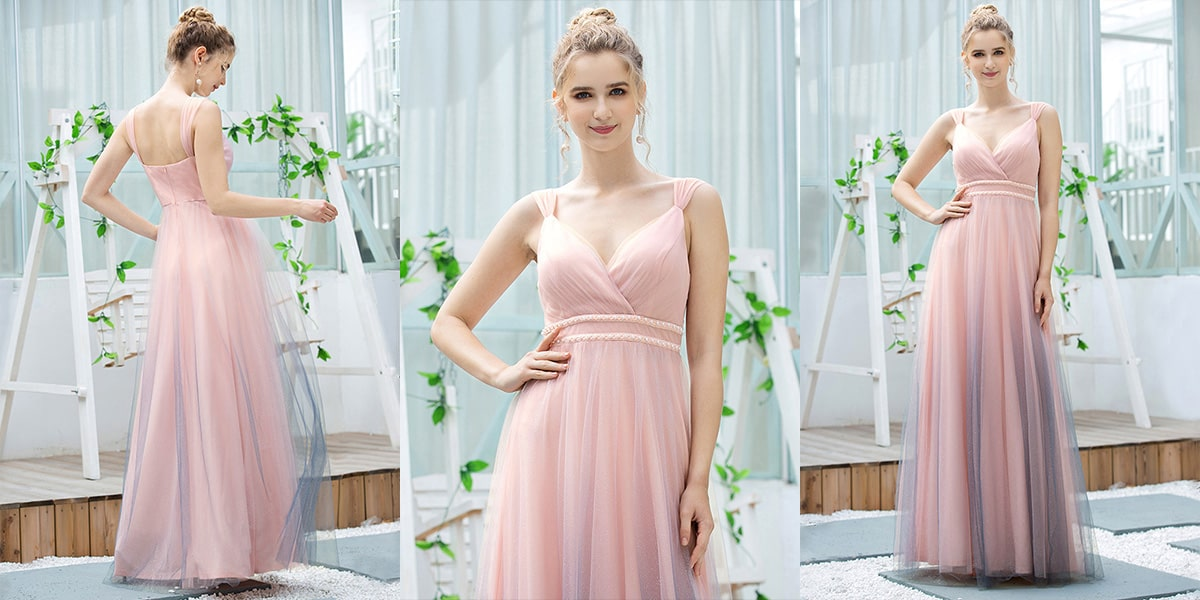 Gradient Color Bridesmaid Dress