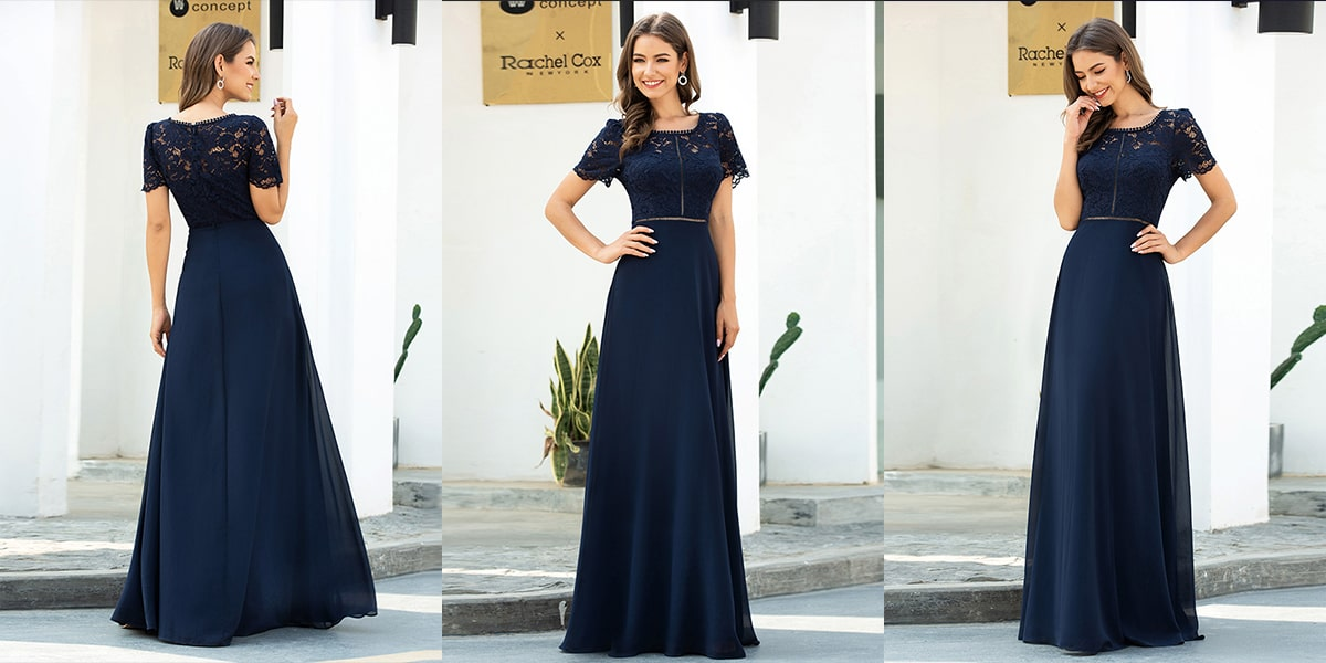 Lace and Chiffon Evening Dresses