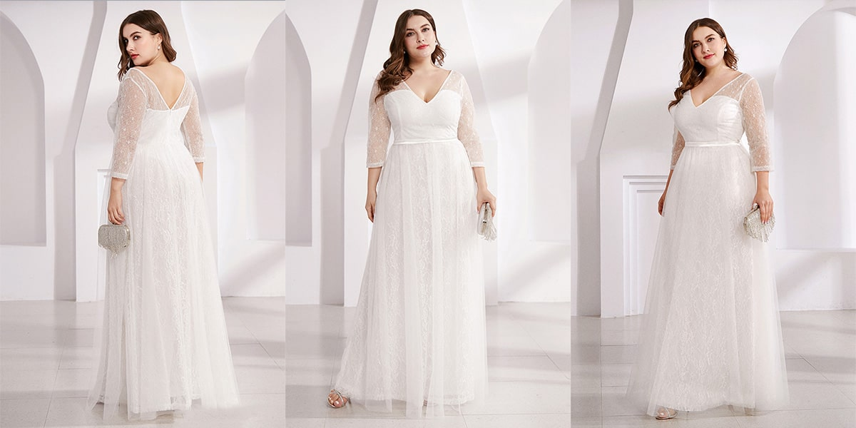 Lace Plus Size Wedding Guest Dresses