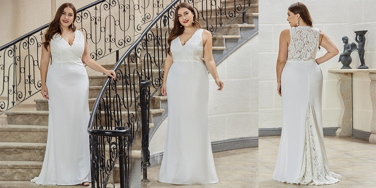 Fishtail Plus Size Wedding Dresses