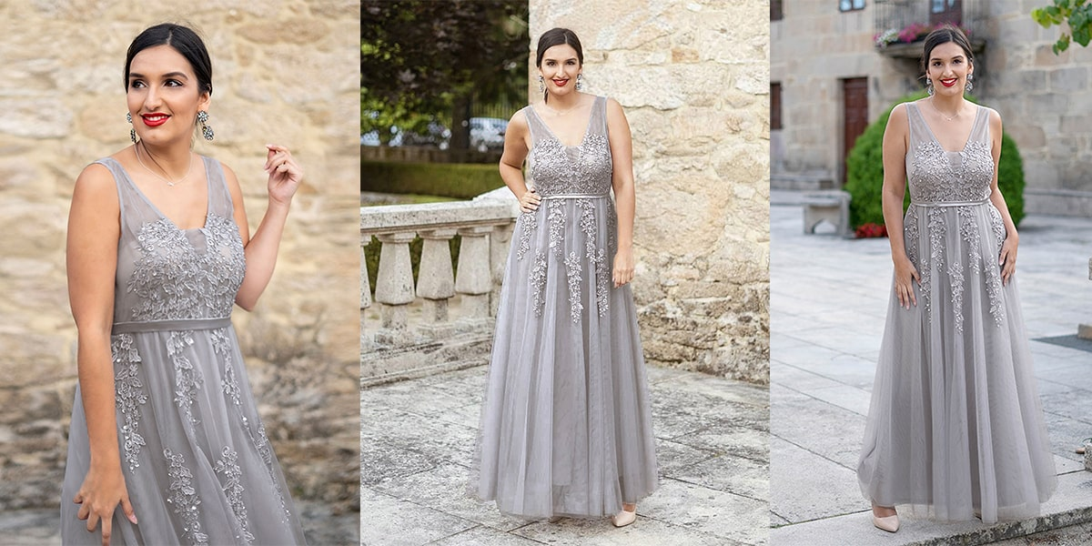 Ethereal Plus Size Tulle Evening Dresses