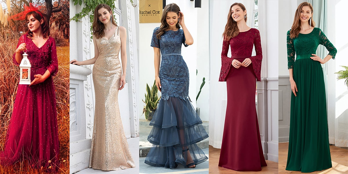 Ever-Pretty Party Dresses for Christmas Party Evening